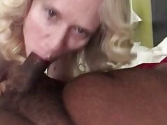 Mature White women Invites Young Black Man Home for Oral.
