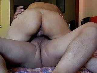 Riding on my lover and cum inside my...