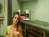 Great kitchen fuck ends with facial