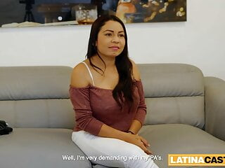 Latina Personal Assistant Sucking Dick on Job Interview