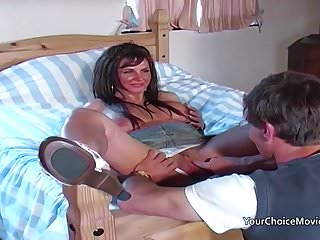 Older glam housewife takes anal while hubby is...