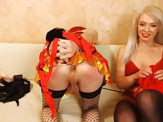 Sissy gets fucked by blondie