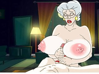 Hot granny nice boy...