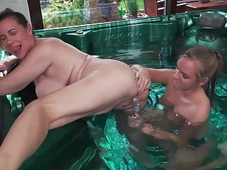 in and Mom daughter sex jacuzzi