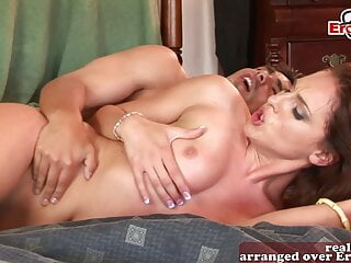 Hardcore anal threesome mmf with DP for milf babe