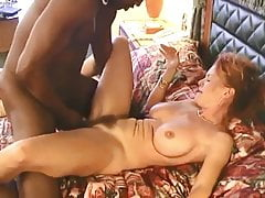 Cute MILF gets rough fuck from two BBCs