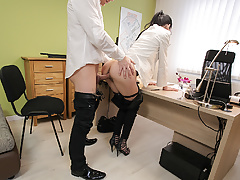 LOAN4K. Colleague drills mouth and sissy of new very nice...