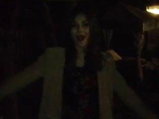 Victoria Justice on a trampoline