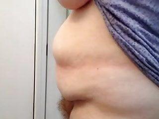 drying her bbw body & hairy pussy.