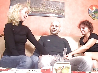 Fuck Threesome to German Mature Stranger Guy Seduce First