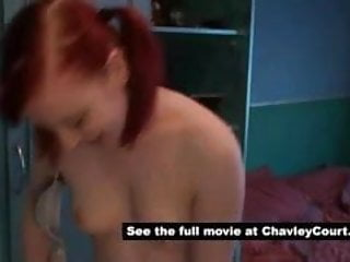 Hairy chav girl getting changed
