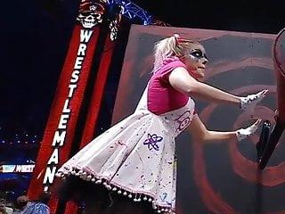 WWE – Alexa Bliss turning a crank at Wrestlemania 37