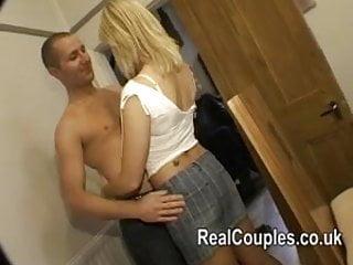 Loving real couple filmed having sex