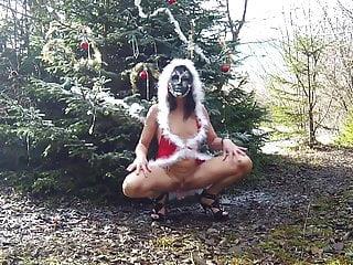 Masked wife flashing...