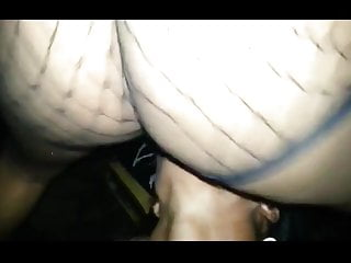 Stripper In The Club Eating Pussy