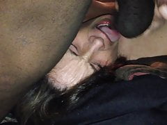 Steph getting her face fucked by her favorite big black cock