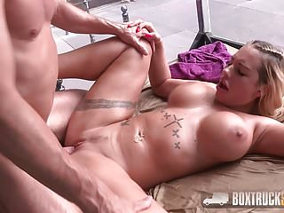 Amazing kyra hot load on her tits in...