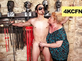 Fat grandma finally lost it femdom...