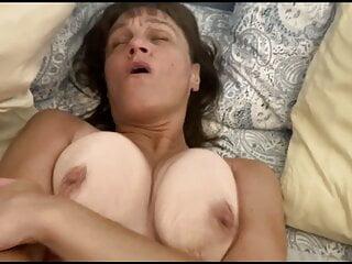 Old slut Wife at it again! Bouncing on a fan till he cums.