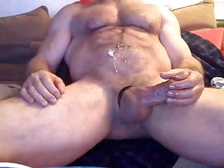 Hairy hung cums...