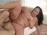 Horny bbw Aire Fresco riding a fat dick