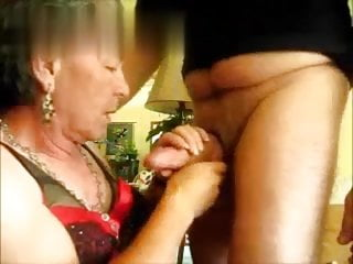 Butchb grandpa mature crossdresser sucking and fucking...