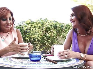 Naughty The united states Janet Mason fucking in the lounge with