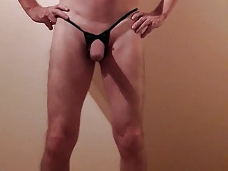 tiny with cock string Crossdresser big in
