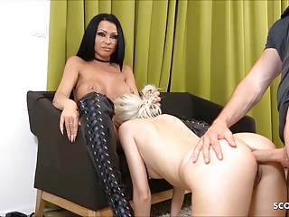 Anal German movie: Slave Girl made to Anal Bitch at Threesome by German Domina