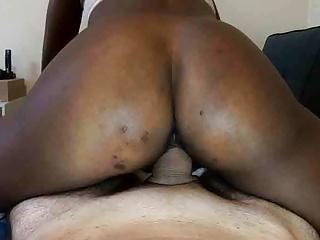 Ebony womb riding until she is cum...