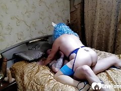 Mature prefers a real cock over a toy