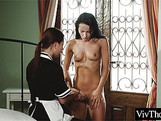 boss maid has with Asian lesbian her sex