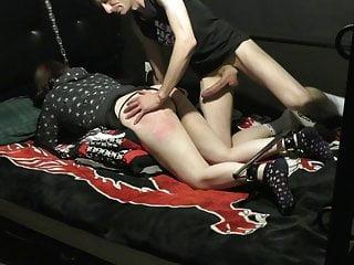 Brutally spanks amp punishes slut...