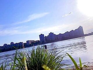 Hidden camera on the nude beach in Kiev