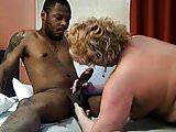 Mature drains Black guys big Dick