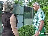 German Grandpa and Grandma fuck Hard in Garden