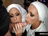 Penthouse Pet Nikki Benz & Jessica Jaymes Banged As Nuns!