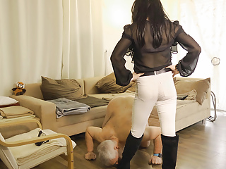 House subby humiliated by tranny dom and man...
