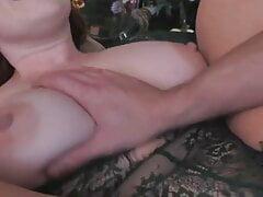 hardcore family fucks for Christmas – creampie and big tits