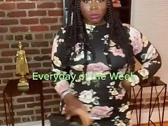 Sexy Ebony MILF showing off Juicy Ass in different outfits