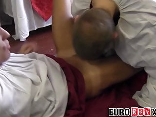 Accepts cock in asshole from gay monk lover...