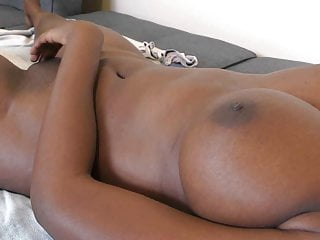 Ebony gf back from quarantine for creampie...