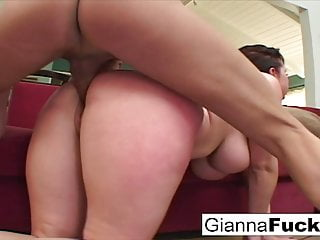 Insatiable drains two cocks of their cum...