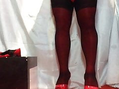Sissy Crimson And Dark-hued She Plays Booty Plow With Her Fucktoys 5