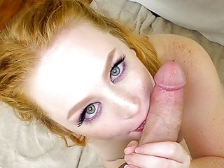 Thick blue eyed redhead with perky tits...