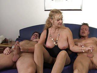Xxx omas threesome...