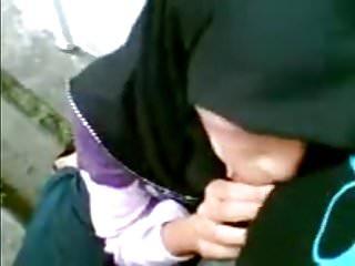 Muslim hijabers sucking circumcised cocks