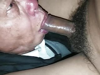 Old asian man sucking cock...