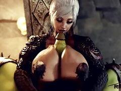 Futa Elf Goddess Titfuck By Orc Monster