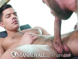 ManRoyale Hotel room strip fuck with Ethan Slade